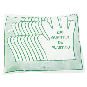 BOLSA 200 GUANTES PLASTICO