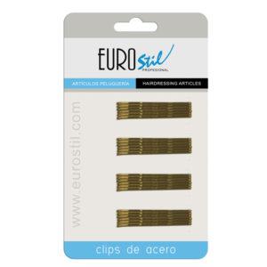 CARTON 24 CLIPS OND.BRONCE EUROSTIL 50 MM