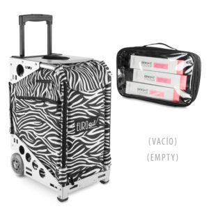 ZEBRA WHEELS HAIRDRESSING HANDBAG