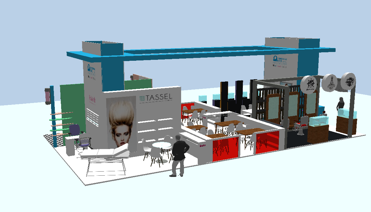 salon look stand