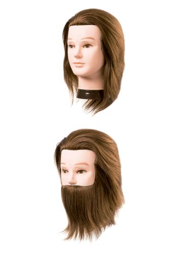 Cabezas maniquí hombre cabello natural