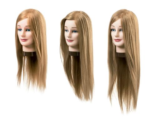 Cabezas maniquí rubio cabello sintético