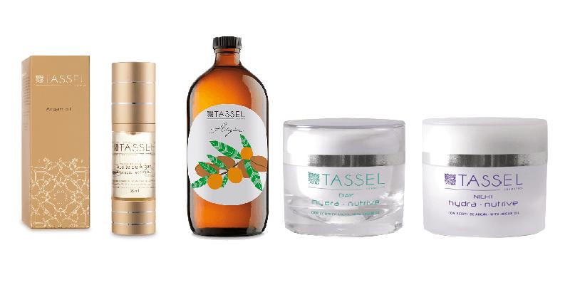 Cosméticos Tassel Skin Cosmetics con aceite de argán