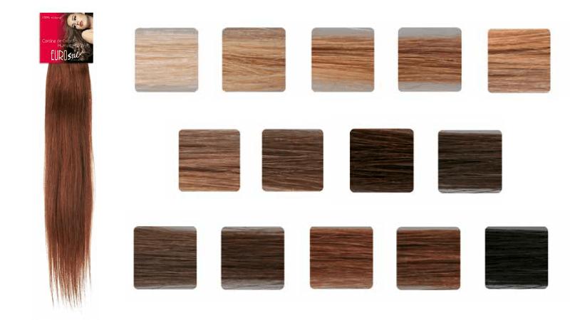 Cortinas de cabello natural remy Eurostil