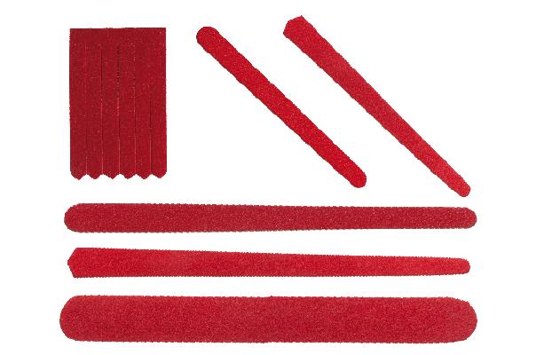 Limas de cartón rojizo