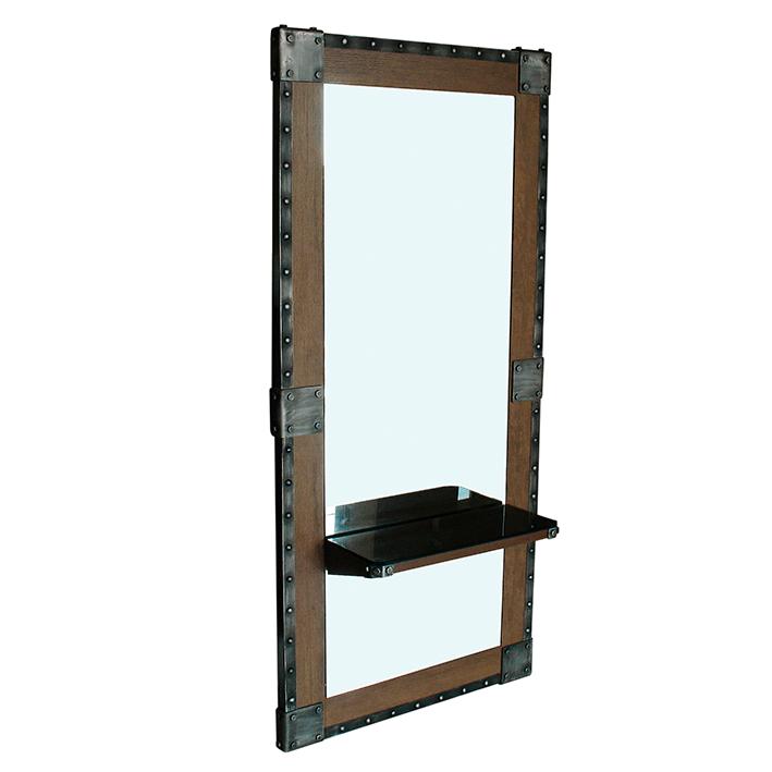 Espejo de madera Barber