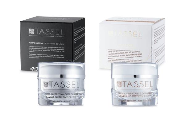 Cremas de caviar y de oro Tassel Skin Cosmetics