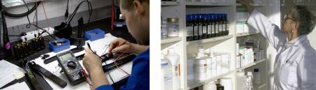 Departamentos servicio técnico y cosmética Industrias Oriol
