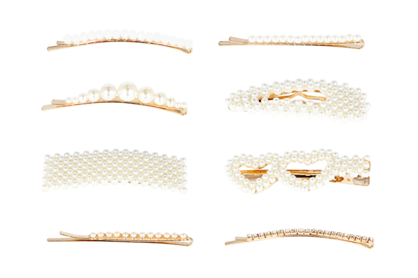 clips con perlas Eurostil