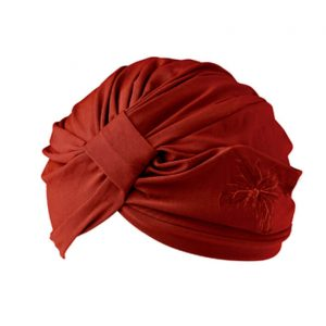 Turban décor grenat