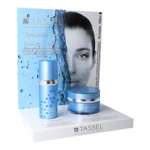 EXPOSITOR HYALURONIC CREMA Y SERUM