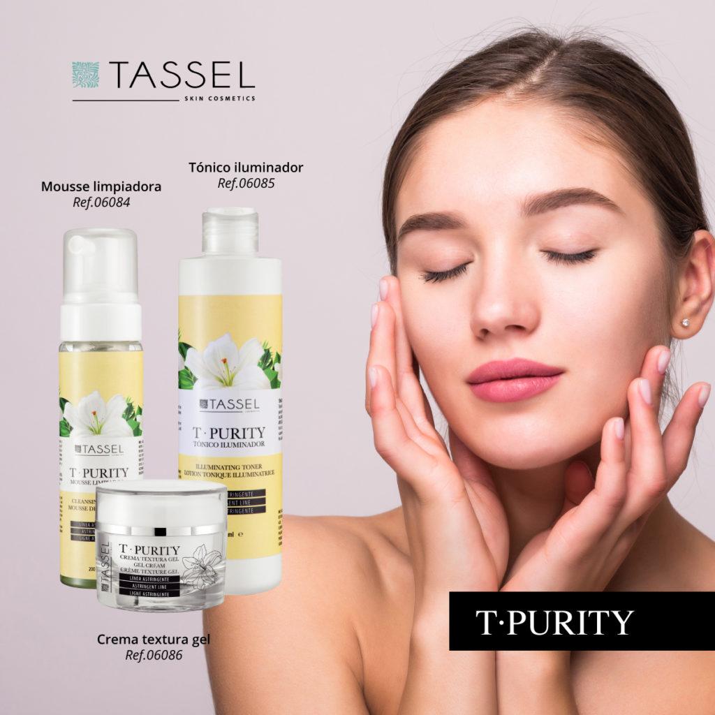 Línea T-PURITY, línea ideal para pieles grasas astringente
