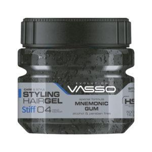 MNEMONIC GUM STYLING HAIR GEL STIFF VASSO 500 ml